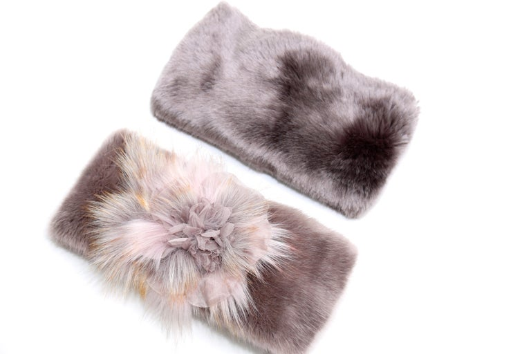 Pelush Faux Fur Scarfs And Hats - Set of 5 - One Size - Get One Free! For Sale 3