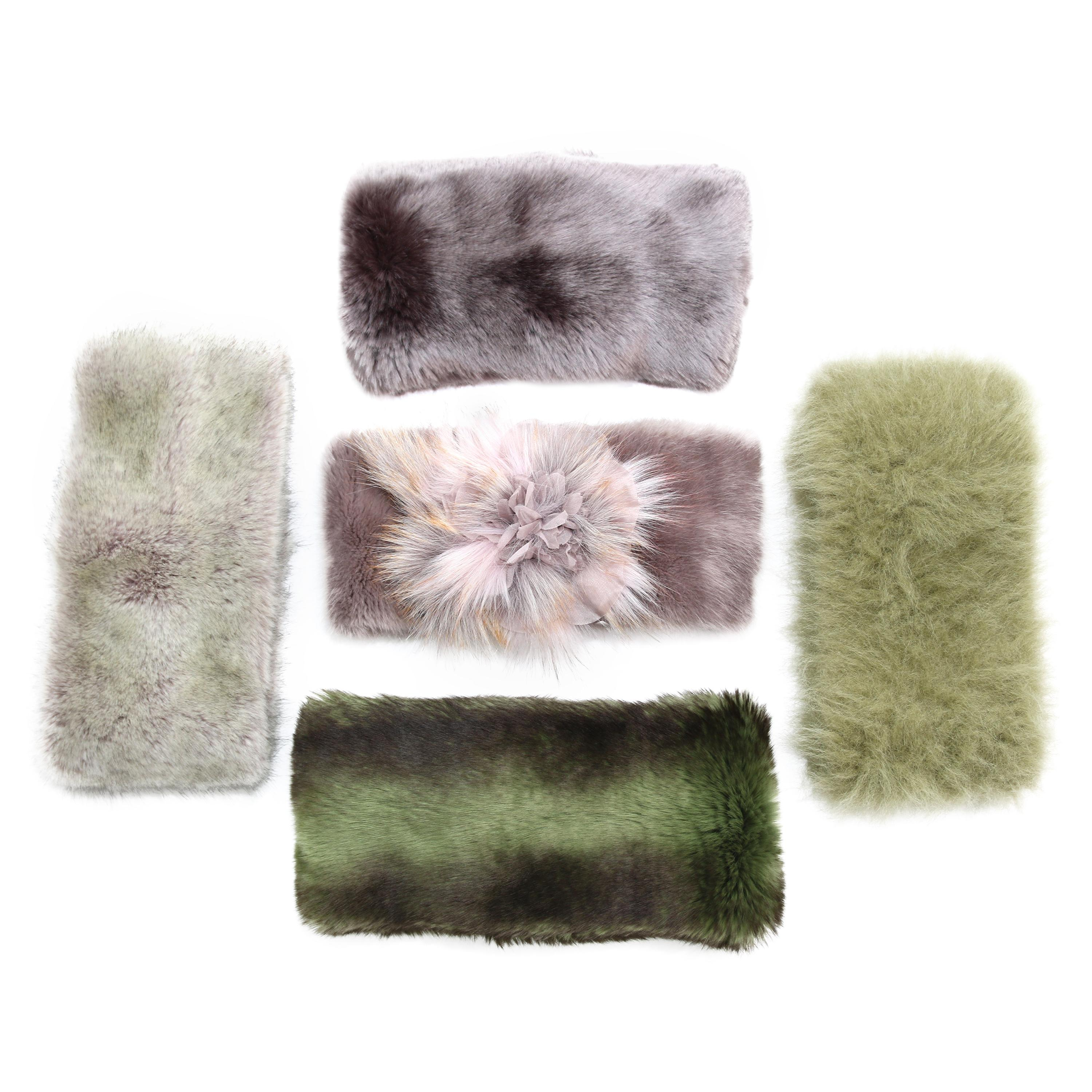 Pelush Faux Fur Scarfs And Hats - Set of 5 - One Size - Get One Free!