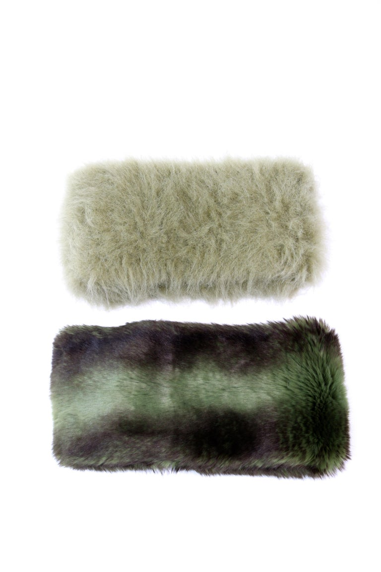 Pelush Faux Fur Scarfs - Chinchilla And Mink Fake Fur Neck Warmer/ Hats One size For Sale 5
