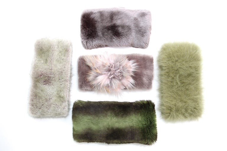 Pelush Faux Fur Scarfs - Chinchilla And Mink Fake Fur Neck Warmer/ Hats One size For Sale 4