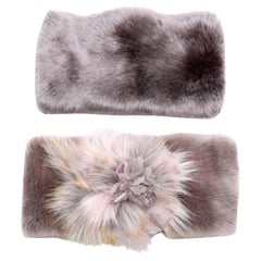 Pelush Faux Fur Scarfs - Chinchilla And Mink Fake Fur Neck Warmer/ Hats One size