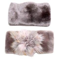 Pelush Faux Fur Scarfs - Chinchilla And Mink Fake Fur Neck Warmer/ Hats One size