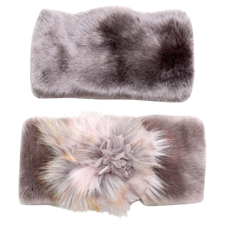 Pelush Faux Fur Scarfs - Chinchilla And Mink Fake Fur Neck Warmer/ Hats One size For Sale