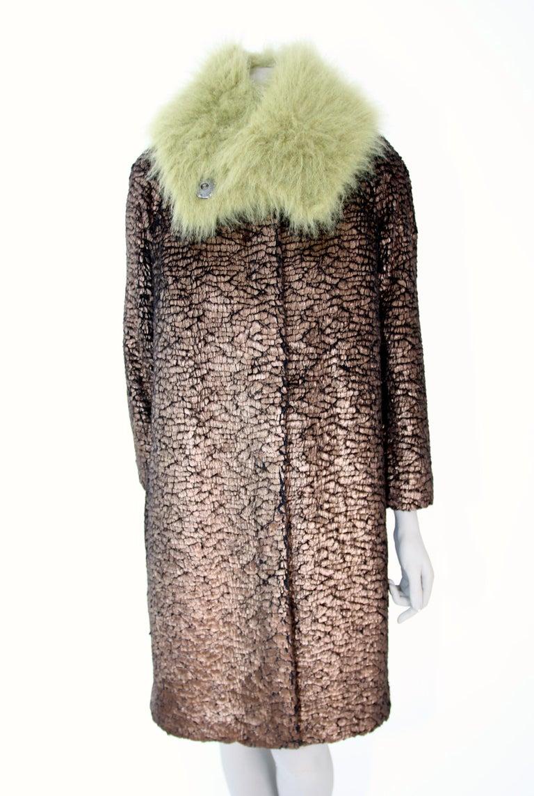 Pelush Faux Fur Scarfs set - Fake Fur Green Chinchilla Neck Warmer/Hats One size For Sale 6