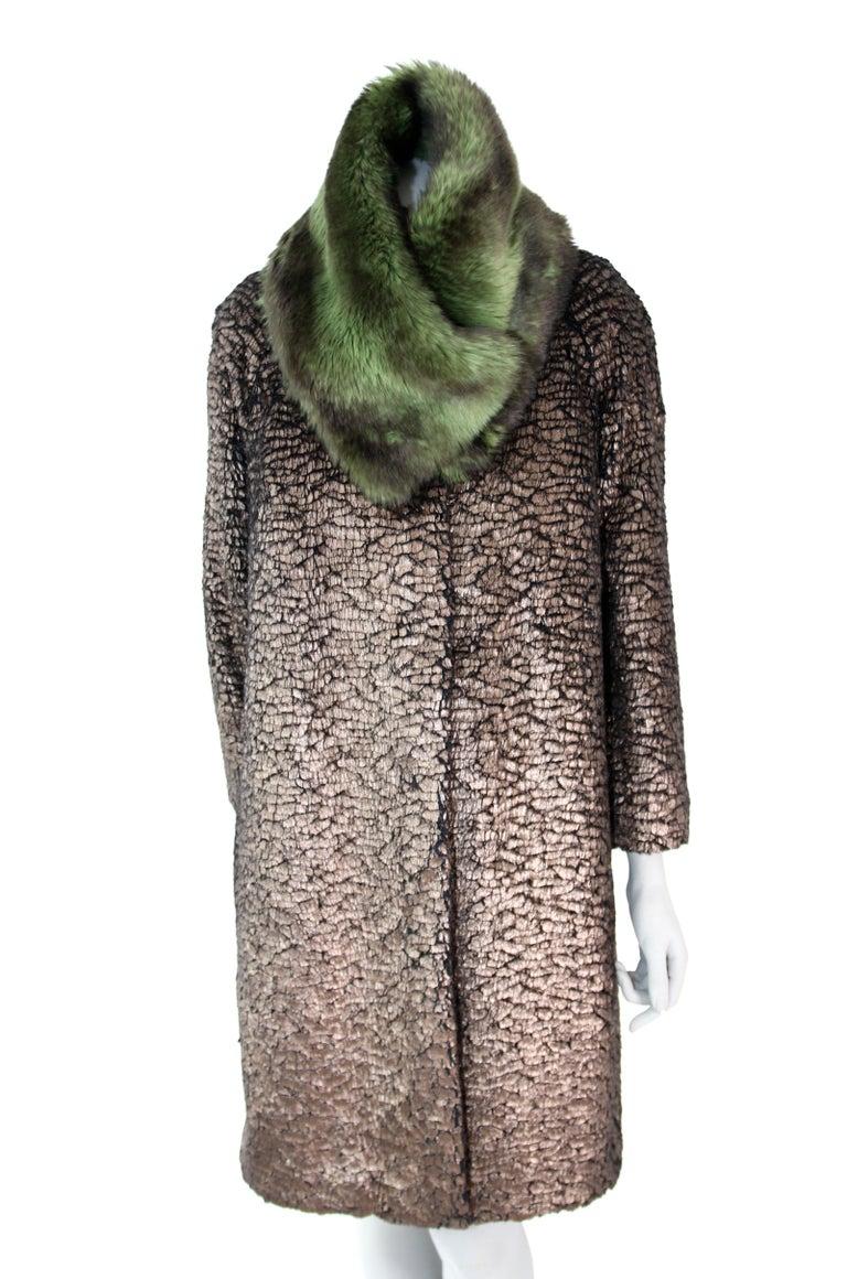 Pelush Faux Fur Scarfs set - Fake Fur Green Chinchilla Neck Warmer/Hats One size For Sale 7