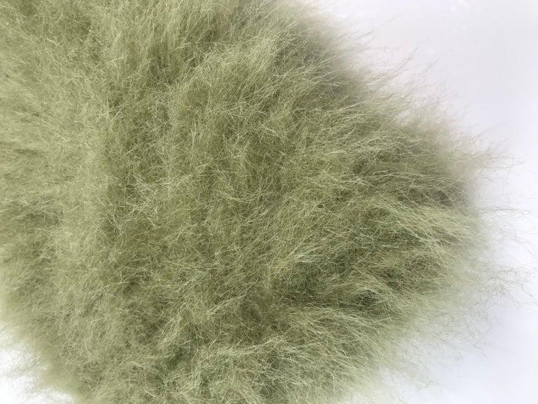 Women's or Men's Pelush Faux Fur Scarfs set - Fake Fur Green Chinchilla Neck Warmer/Hats One size For Sale