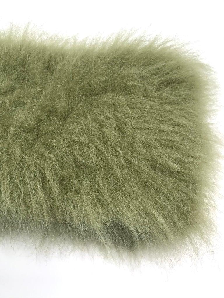 Pelush Faux Fur Scarfs set - Fake Fur Green Chinchilla Neck Warmer/Hats One size For Sale 1