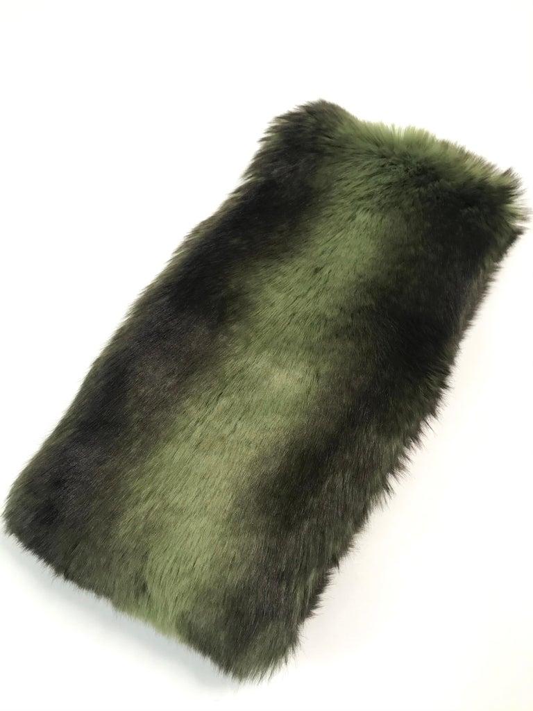 Pelush Faux Fur Scarfs set - Fake Fur Green Chinchilla Neck Warmer/Hats One size For Sale 2