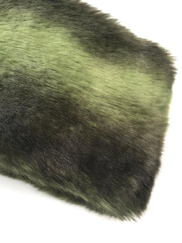 Pelush Faux Fur Scarfs set - Fake Fur Green Chinchilla Neck Warmer/Hats One size For Sale 3