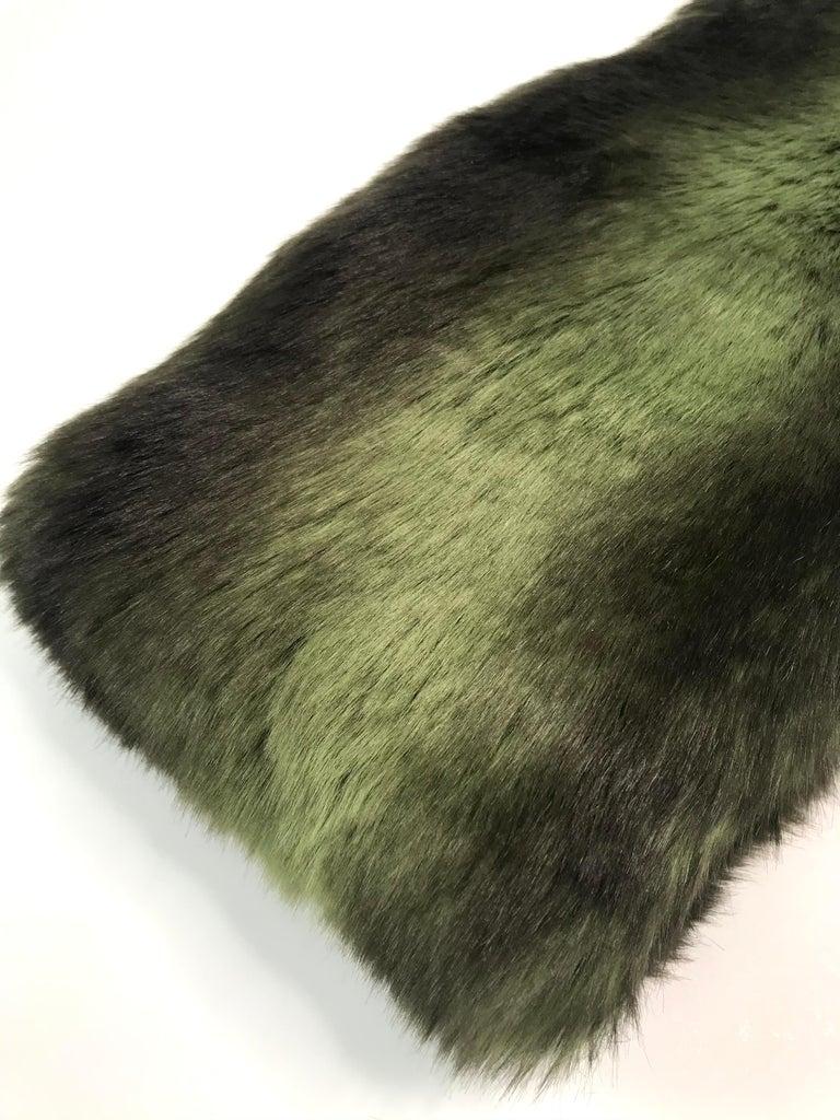 Pelush Faux Fur Scarfs set - Fake Fur Green Chinchilla Neck Warmer/Hats One size For Sale 4
