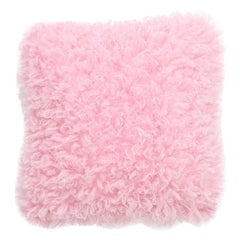 Pelush Pink Poodle Faux Fur Small Throw Pillows - Cotton Candy Pillow set