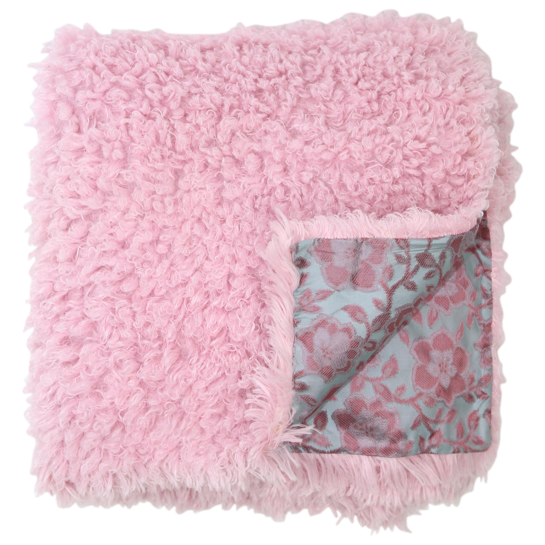 Pelush Pink poodle Faux Fur Throw Blanket