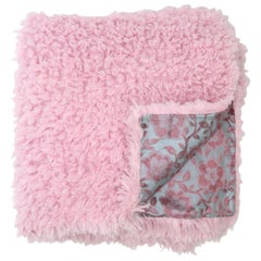 Pelush Pink poodle Faux Fur Throw Blanket