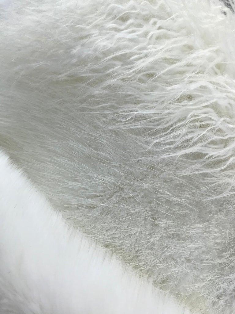 Pelush White Faux Fur Mink Vest with Details - One Size S/M For Sale 10