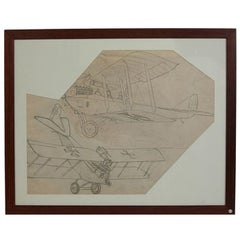 Pencil Drawing Depicting a Brandenburg C I WWI Aircraft by Riccardo Cavigioli