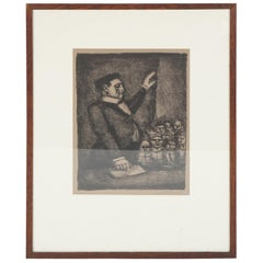 "Pencil Signed and Numbered Rouault Lithograph ""Idéal / L'Orateur"""