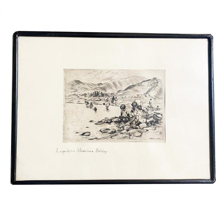HUC-MOZELET LUQUIENS (1881-1961)  Pencil Drawling/Etching