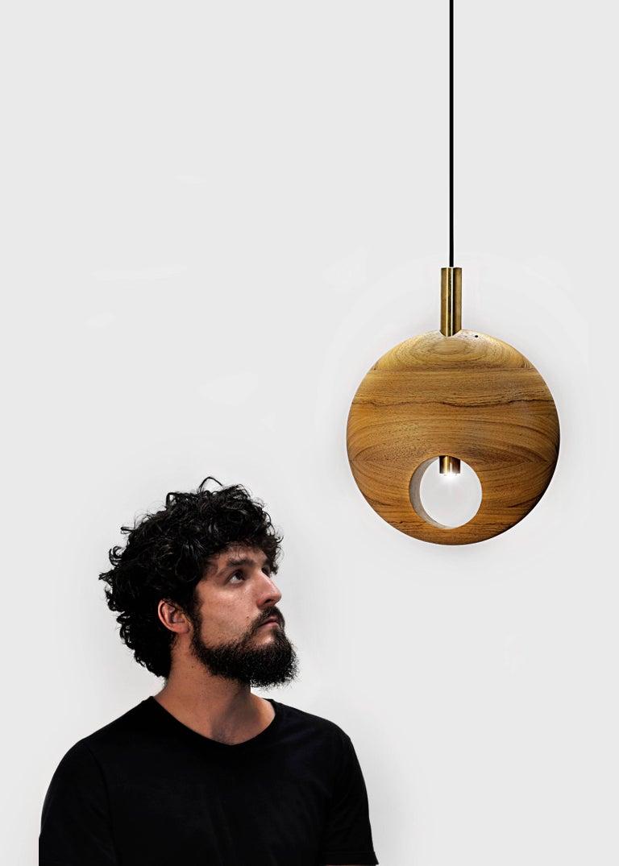 Pendant 211 On Tropical Brazilian Hardwood For Sale At 1stdibs
