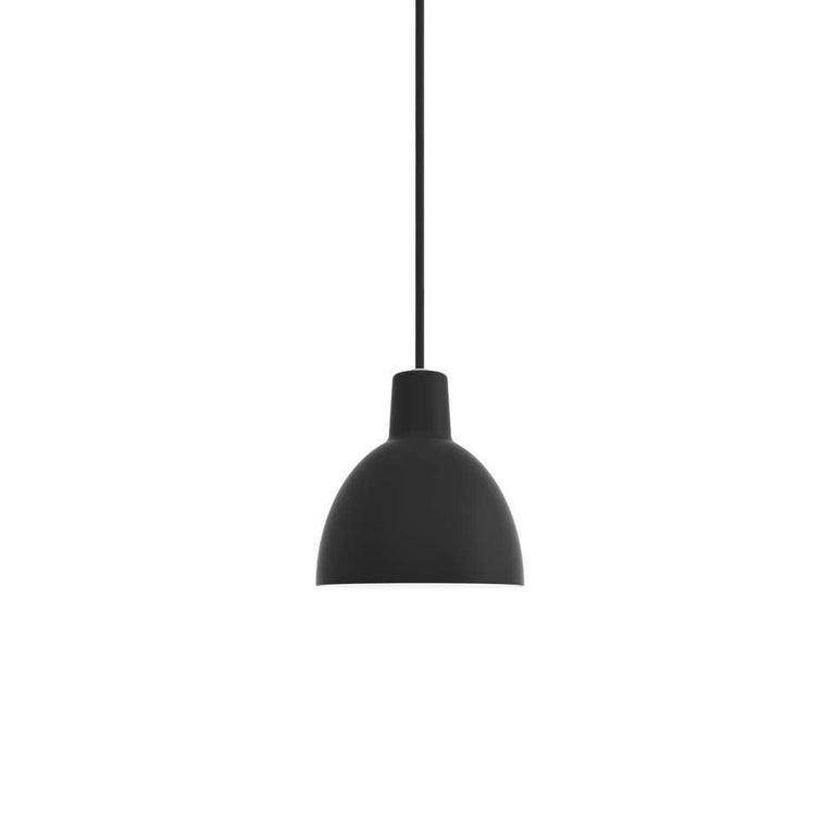 Pendant 120-light by Louis Poulsen Size: Width x height x length (mm) 120 x 121 x 120, 0.5 kg Material: Shade in pressed aluminum, matte lacquered. Inner shade with a white reflector made of anodised aluminum. Canopy: Yes, cord length: 2.6 m.