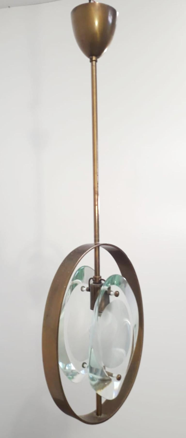 Mid-Century Modern Pendant by Max Ingrand for Fontana Arte For Sale