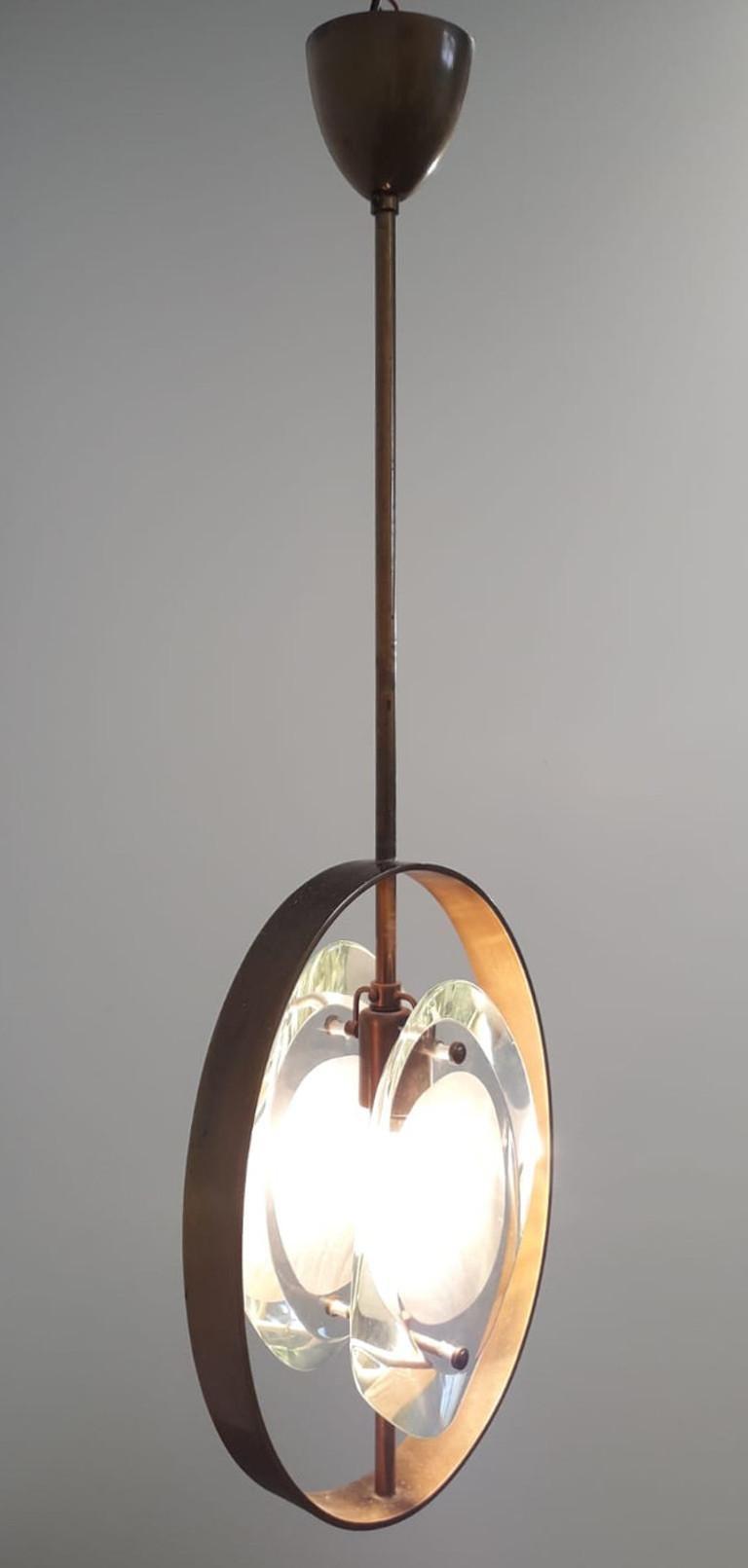 Italian Pendant by Max Ingrand for Fontana Arte For Sale