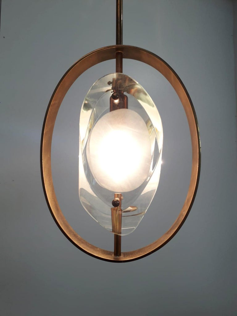 Pendant by Max Ingrand for Fontana Arte In Good Condition For Sale In Palm Springs, CA