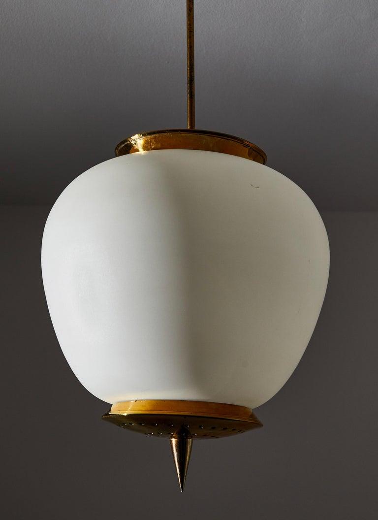 Brass Pendant by Stilnovo For Sale