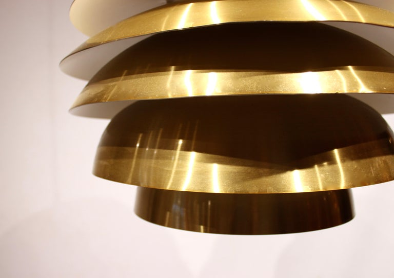 Scandinavian Modern Pendant in Brass by Bent Karlby from the 1960s