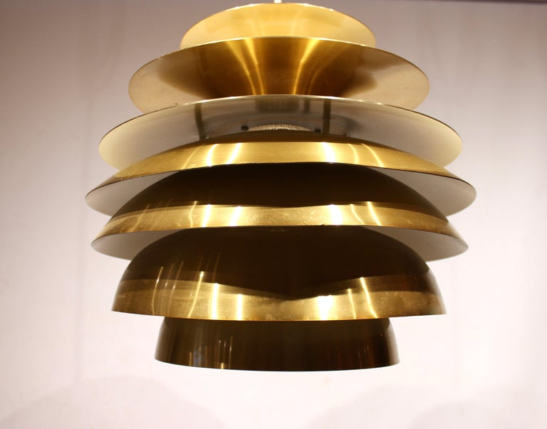 Danish Pendant in Brass by Bent Karlby from the 1960s
