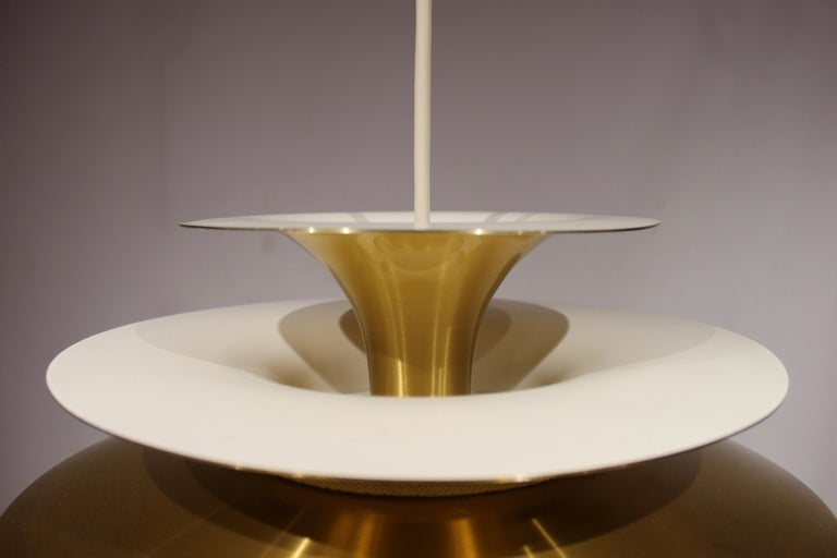 Pendant in Brass by Bent Karlby from the 1960s In Good Condition In Lejre, DK