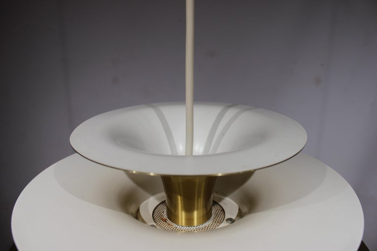 Mid-20th Century Pendant in Brass by Bent Karlby from the 1960s