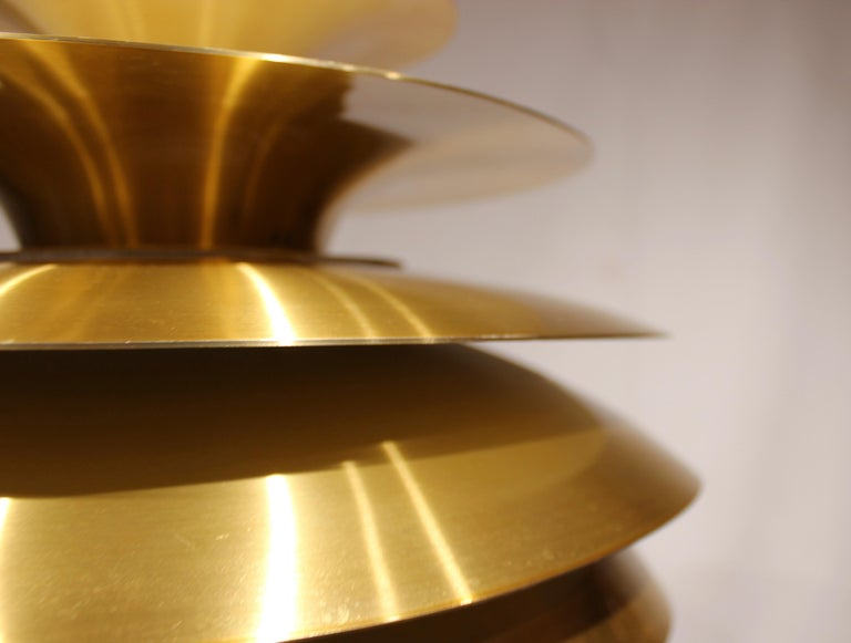 Pendant in Brass by Bent Karlby from the 1960s 1