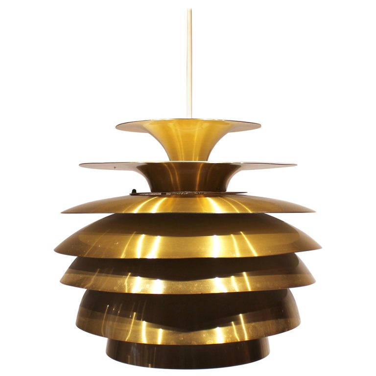 Pendant in Brass by Bent Karlby from the 1960s