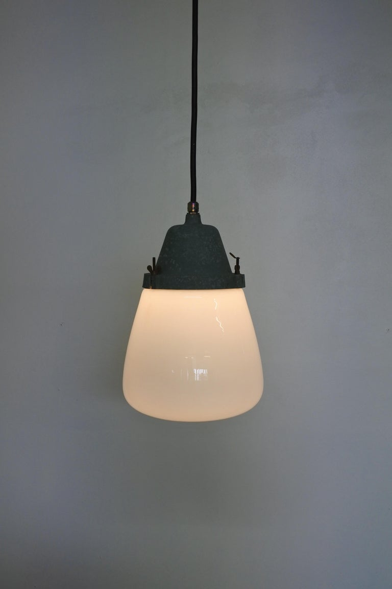 Industrial Pendant Lamp by Paavo Tynell & Taito, Finland 1930s For Sale