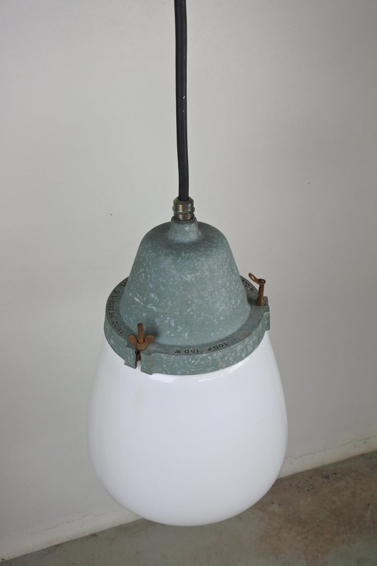 Opaline Glass Pendant Lamp by Paavo Tynell & Taito, Finland 1930s For Sale