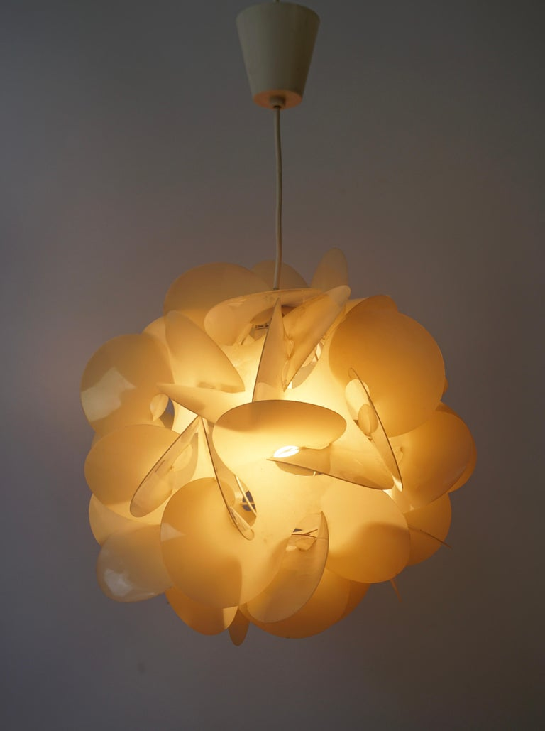 French Pendant Lamp by Raoul Raba, 1968 For Sale