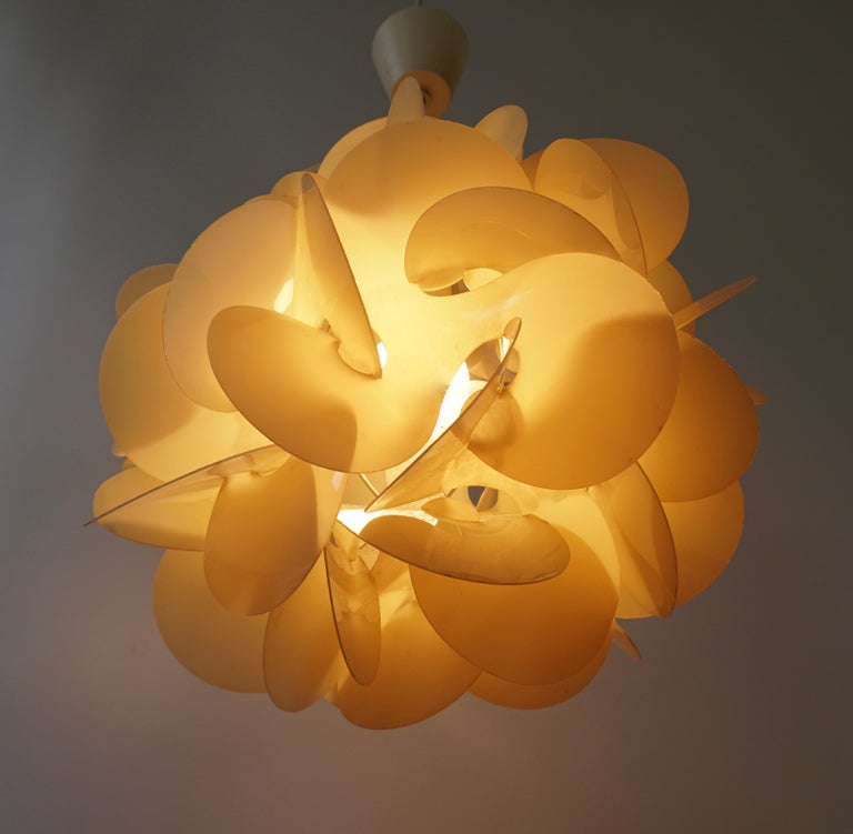 20th Century Pendant Lamp by Raoul Raba, 1968 For Sale