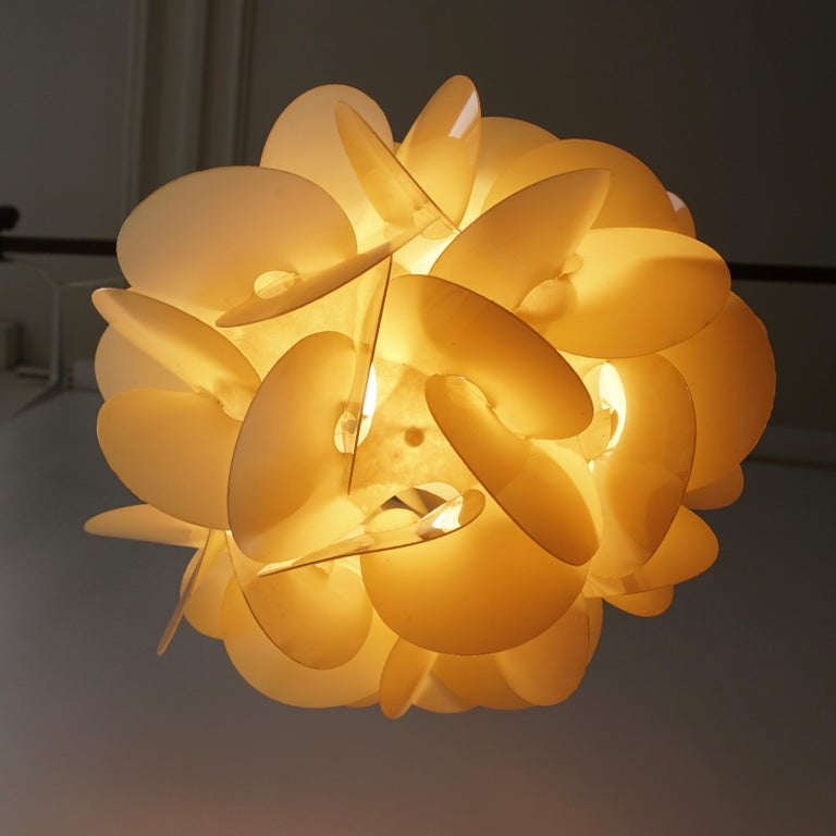 Plastic Pendant Lamp by Raoul Raba, 1968 For Sale