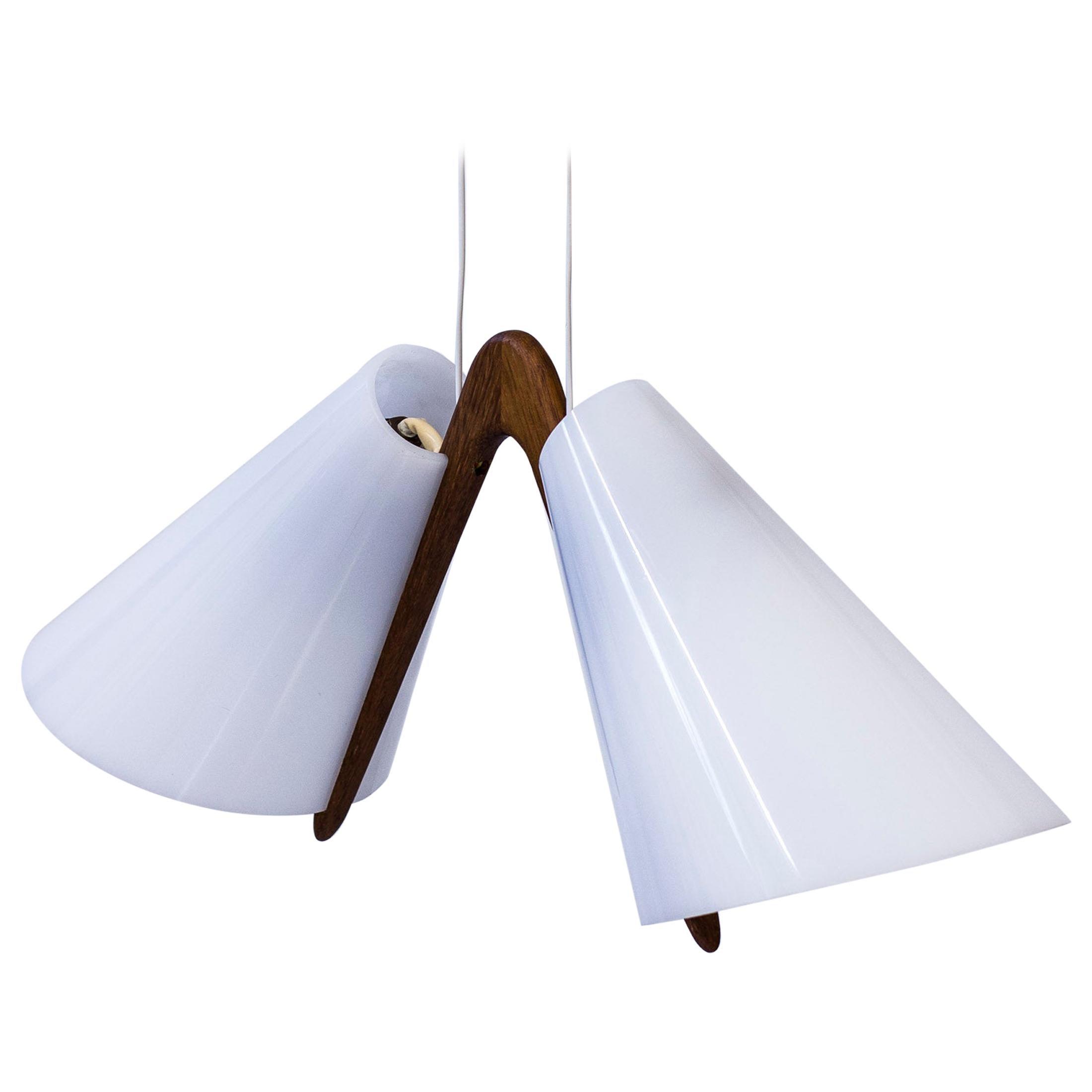 Pendant Light by Uno & Östen Kristiansson, Luxus, Sweden, 1950s