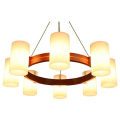 Pendant Light Chandelier Ceiling Lamp by Luxus Uno & Östen Kristiansson, 1960s