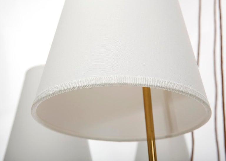 Pendant Light Chandelier 'Holzstern' by J.T. Kalmar, Brass Walnut Wood, 1960s For Sale 9