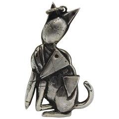 Sterling Silver Pendant, De Chirico, Handmade, Italy