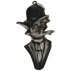 Sterling Silver Pendant, Magritte, Handmade, Italy