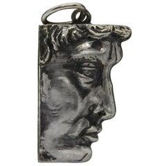 Sterling Silver Pendant, David, Handmade, Italy
