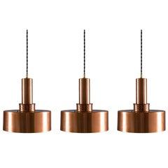 Pendants T292 in Copper by Hans-Agne Jakobsson