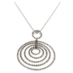 """Pendent from the Collection """"Fulcrum"""" 18 Karat White Gold and Diamonds"""