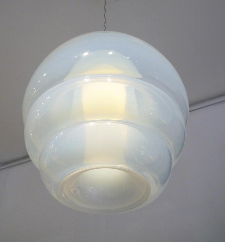Pendent light by Carlo Nason for Mazzega Model LS134.