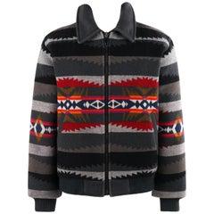 PENDLETON c.1990's 'High Grade Westernwear' Multicolor Southwestern Print Jacket