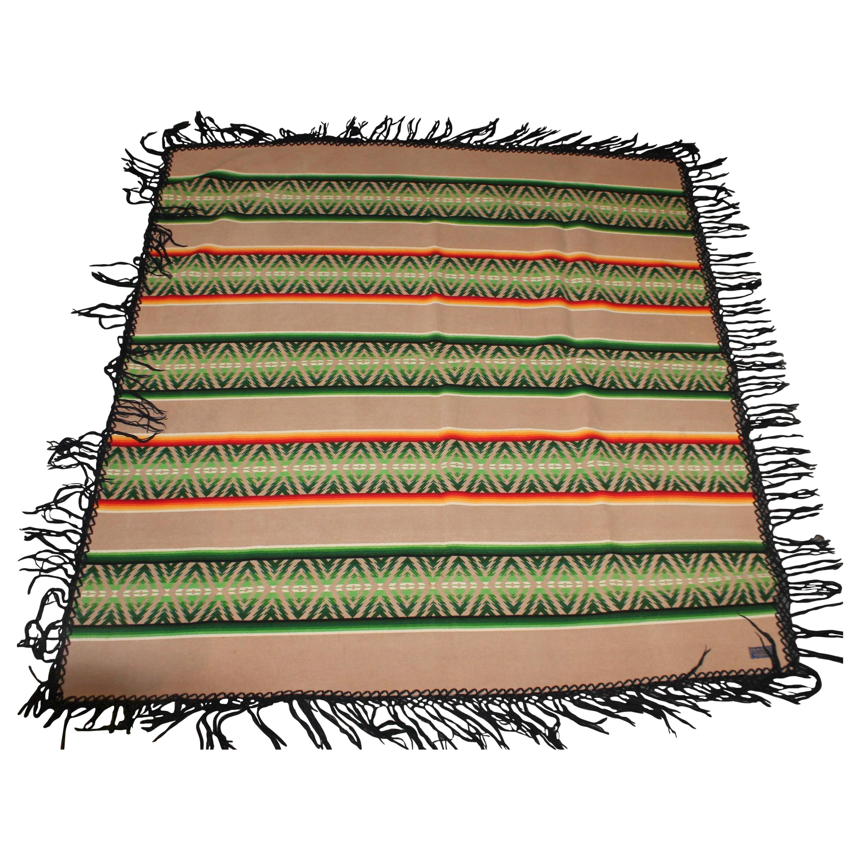 Pendleton Fringed Indian Design Camp Blanket