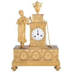Pendule Clock, France, First Half of the 19th Century